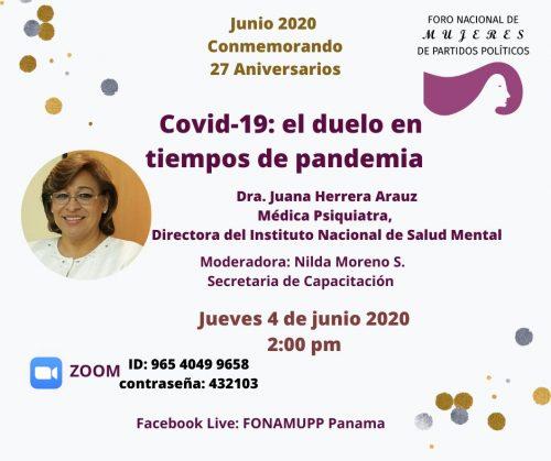 COVID19 el duelo en tiempos de pandemia