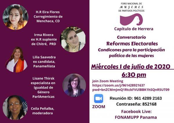Conversatorio Reformas Electorales Capítulo de Herrera