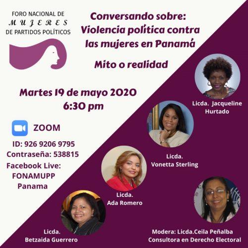 Conversatorio Reformas Electorales FONAMUPP Panamá
