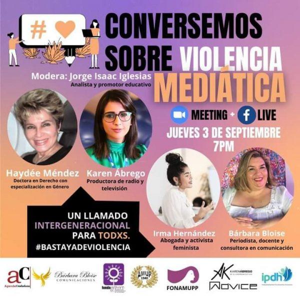 Conversemos sobre violencia mediática afiche