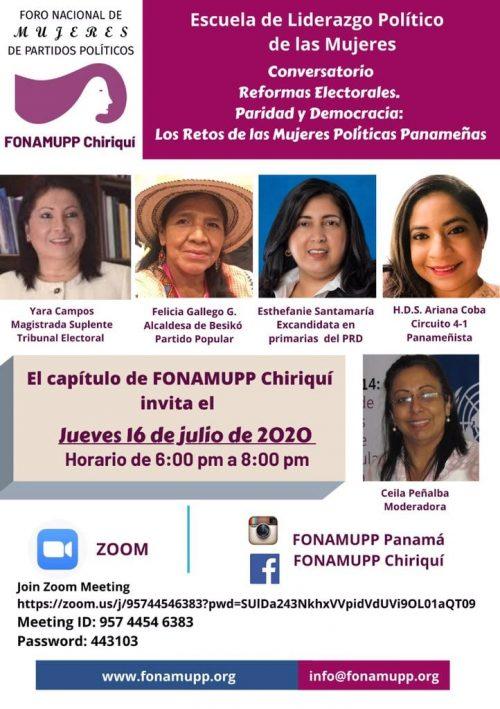 Reformas Electorales. Paridad y Democracia Los Retos de las Mujeres Políticas Panameñas Chiriquí