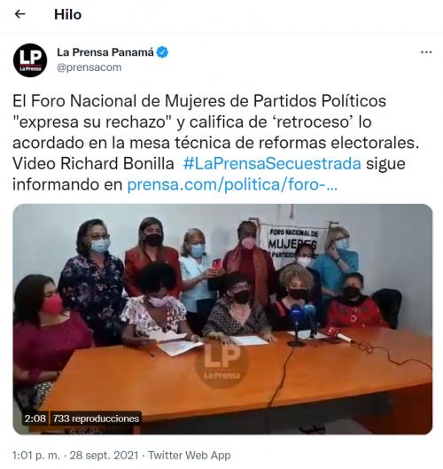 Tweet La Prensa